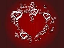 влюбленность сердец предпосылки Стоковое Изображение RF