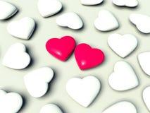 влюбленность сердец принципиальной схемы Стоковое фото RF