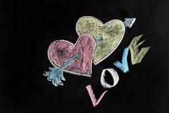 влюбленность сердец стрелки Стоковое Фото