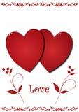 влюбленность сердец иллюстрация штока