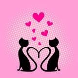 влюбленность сердца карточки Стоковые Изображения RF