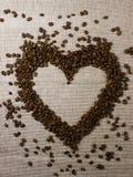 влюбленность сердца кофе Стоковые Фото