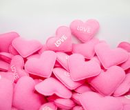Влюбленность сердца пастельного пинка сладостная с whitebackground Стоковые Изображения RF