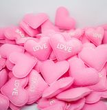 Влюбленность сердца пастельного пинка сладостная с whitebackground Стоковые Фото