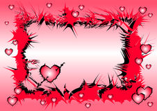влюбленность сердца предпосылок Стоковое Изображение