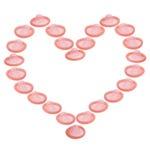 влюбленность сердца презервативов Стоковые Фото
