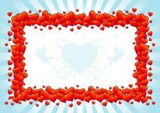 влюбленность сердца рамки Иллюстрация штока