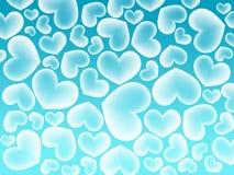 влюбленность сердца цвета предпосылки голубая Стоковые Фотографии RF