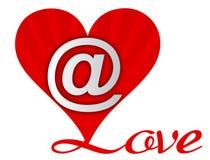 влюбленность сердца электронной почты Стоковые Изображения