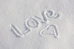 влюбленность снежная вы стоковое фото rf