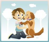 влюбленность собаки i моя Стоковая Фотография