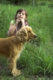 влюбленность собаки i моя Стоковое Фото
