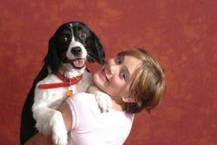 влюбленность собаки i моя Стоковое фото RF