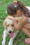 влюбленность собаки i моя Стоковые Фото