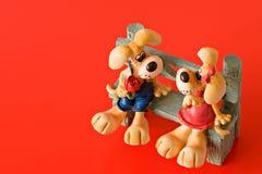 влюбленность собак понижаясь Стоковые Фото