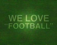 влюбленность травы футбола иллюстрация вектора