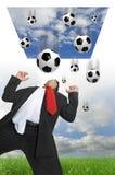 влюбленность футбола i Стоковое Изображение