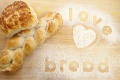 влюбленность хлеба Стоковая Фотография