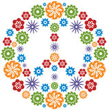 влюбленность цветков сделала multicolor символ мира Стоковое Фото