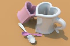 влюбленность чашки Иллюстрация вектора