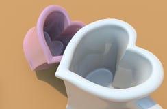 влюбленность чашки Бесплатная Иллюстрация