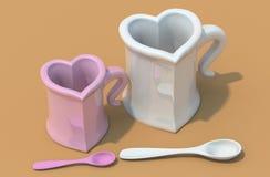 влюбленность чашки Иллюстрация штока