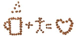 влюбленность человека кофе Стоковое Фото