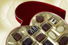 влюбленность шоколада Стоковое Фото
