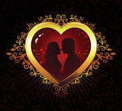 влюбленность 03 heart02 Иллюстрация штока