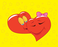 влюбленность 2 сердец Стоковая Фотография RF