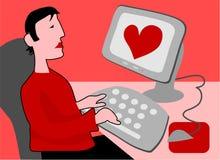 влюбленность cyber Стоковые Изображения RF