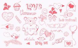 влюбленность doodle Стоковые Фотографии RF