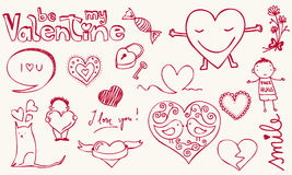 влюбленность doodle Стоковое Изображение