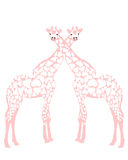 влюбленность giraffes Стоковые Изображения RF