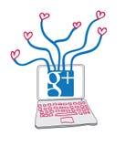 влюбленность google соединений Стоковое Фото
