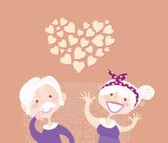 влюбленность grandparents ethernal Стоковые Фотографии RF