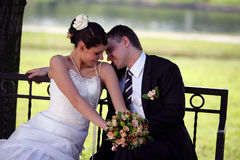 влюбленность groom невесты Стоковые Фото