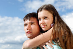 влюбленность hug стоковые фотографии rf