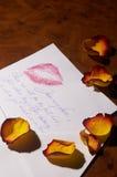 влюбленность liebesbrief письма Стоковые Фото
