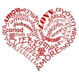 влюбленность multilanguage Стоковое Изображение RF