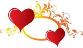 влюбленныеся сердца 2 Стоковые Фото