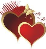 влюбленныеся сердца 2 Стоковое Изображение