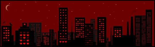 влюбленныйся город Стоковая Фотография RF