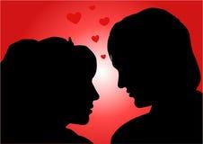 влюбчивая иллюстрация пар Стоковые Фото