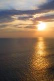 влюбчивый заход солнца Стоковое Изображение RF
