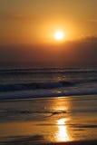 влюбчивый заход солнца Стоковая Фотография RF