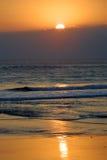 влюбчивый заход солнца Стоковые Фотографии RF