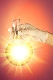 внезапная рука склянки Стоковое Изображение RF