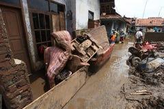Внезапное наводнение бедствия Индонезии - Garut 063 Стоковое Изображение RF