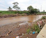 Внезапное наводнение бедствия Индонезии - Garut 038 Стоковые Изображения RF